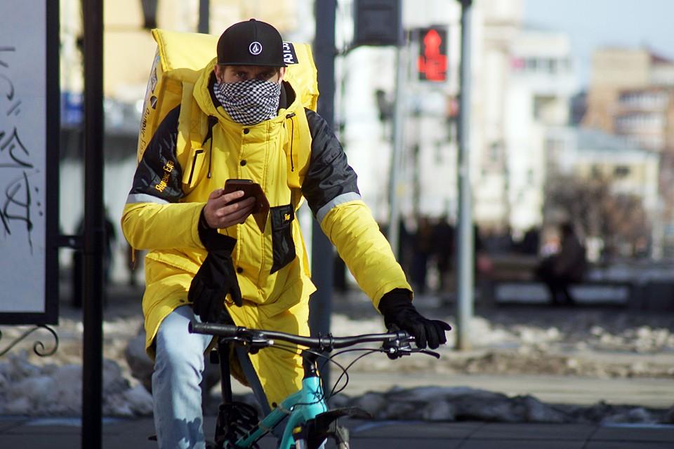 Велосипеды ускорят доставку продуктов, готовой еды и предметов первой необходимости москвичам, которые вынуждены сидеть дома