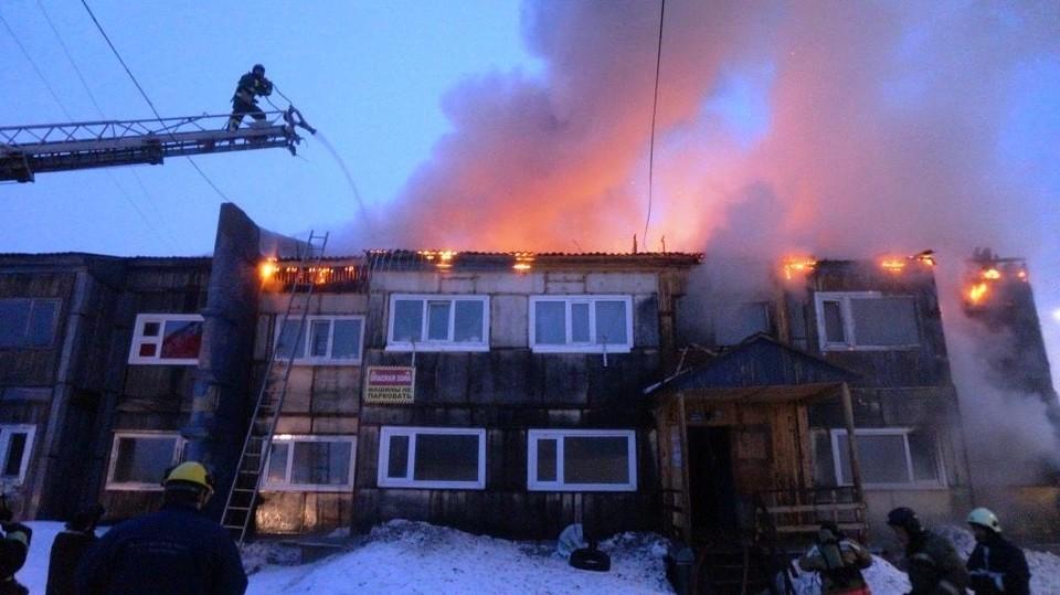 В Муравленко во время пожара обнаружили мертвого мужчину Фото: 89.mchs.gov.ru