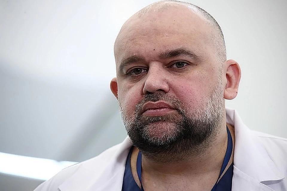 Главврач спецбольницы в Коммунарке Денис Проценко. Фото: Валерий Шарифулин/ТАСС