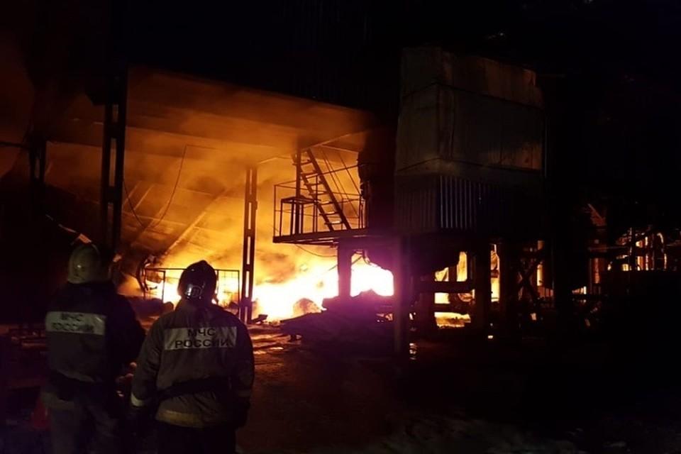 Пожар на заводе «Техпрогресс» в Туле потушен. Фото: ГУ МЧС по Тульской области