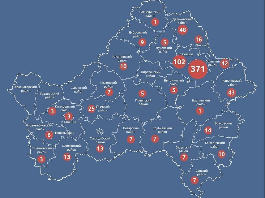 этом карта с фото брянской области самых больших