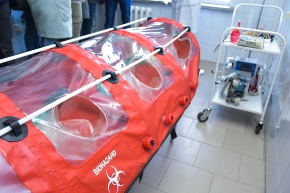 Капсула для перевозки больных с коронавирусом