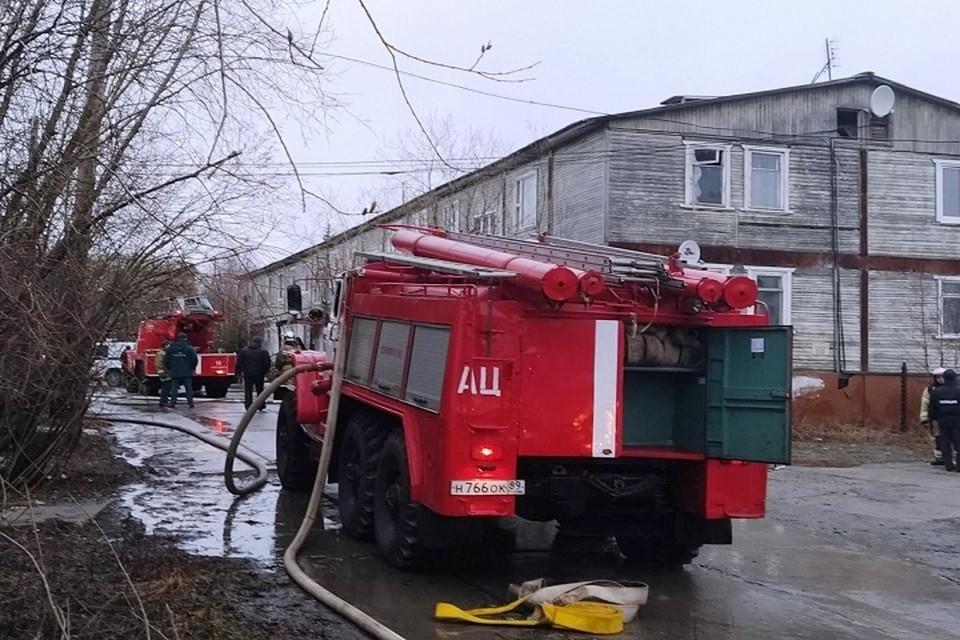 В Лабытнанги назвали возможную причину пожара в жилом доме