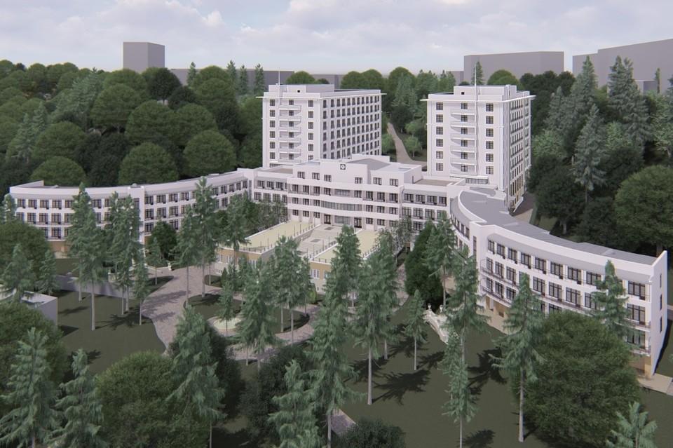 Санаторий «Академический» в Кисловодске был построен 86 лет назад. Фото: проект реконструкции здания