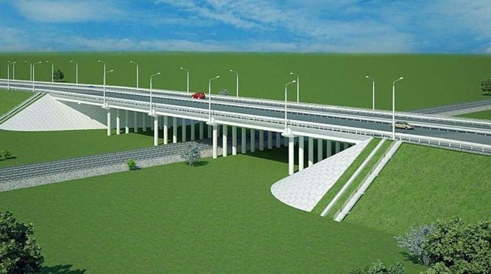 Общая длина участка автодороги вместе с путепроводом составит более 2 км.