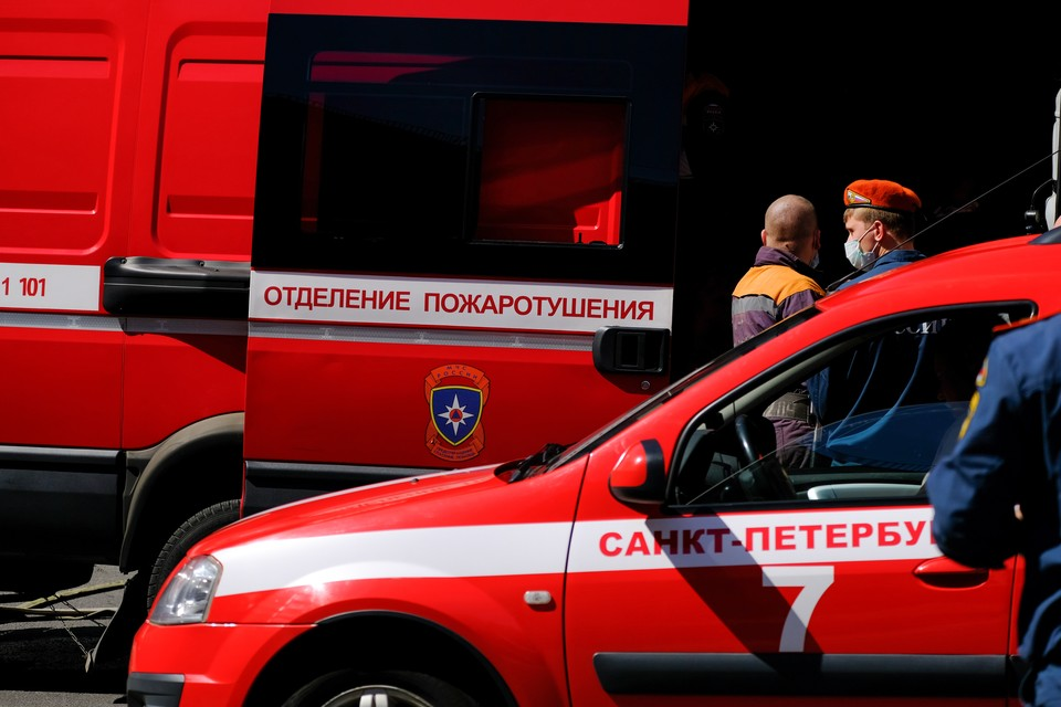 Рефрижератор для трупов сгорел во дворе Городской больницы № 2