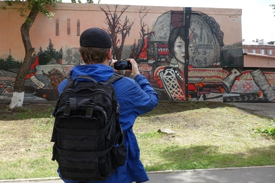 Коренные народы Кузбасса стали героями граффити
