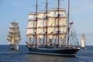 В «Храброво» встречали курсантов - участников исторической кругосветки легендарного барка «Седов»