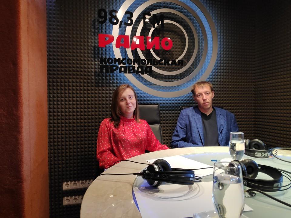 В студии Радио «Комсомольская правда» Татьяна Косачёва и Константин Лукин.