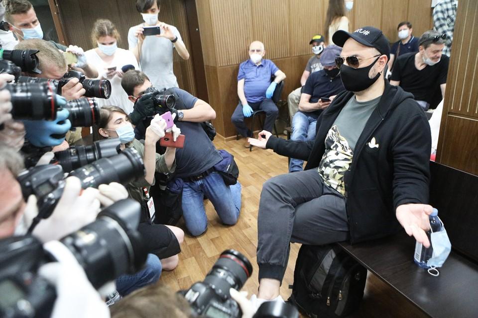 Кирилл Серебренников в зале суда.