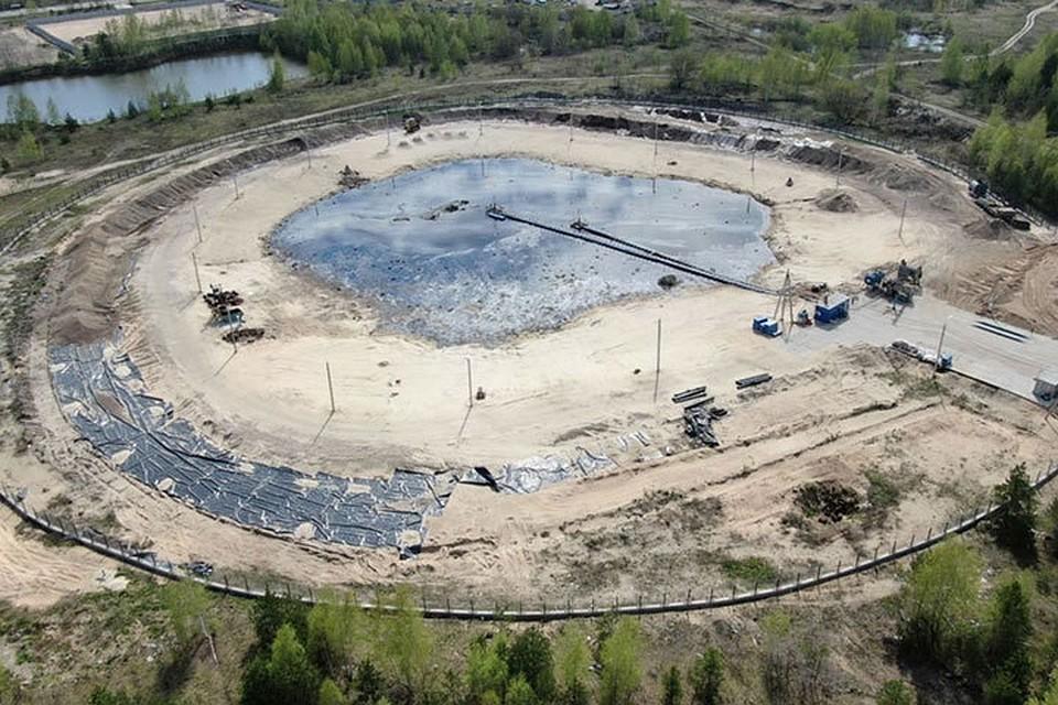 «Черная дыра». Ликвидация отходов продолжается. Фото: «ГазЭнергоСтрой»