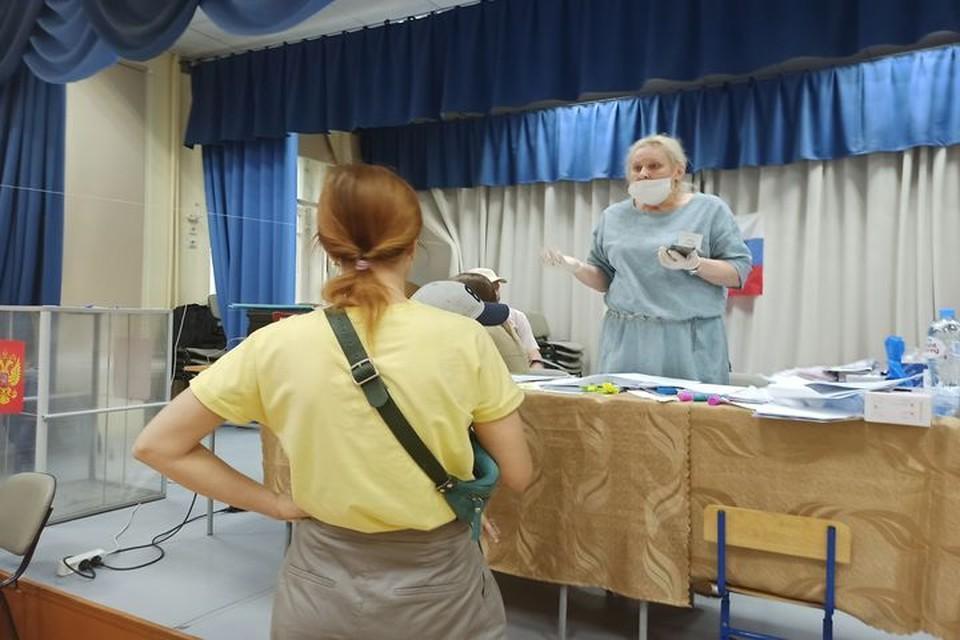 Сибирячка с ребенком поскандалила на избирательном участке.