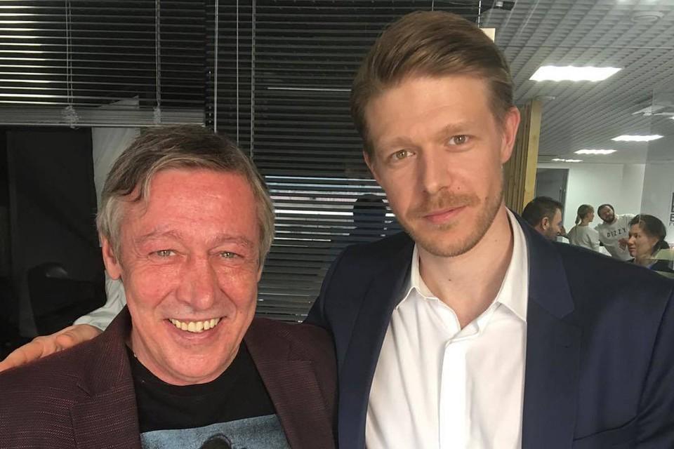 Михаил Ефремов с сыном Никитой.