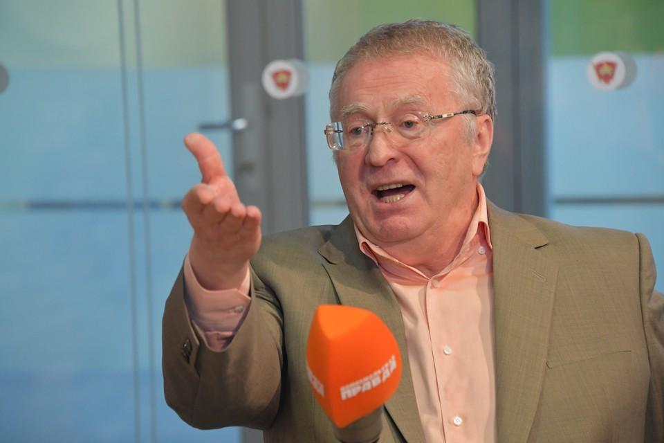 Владимир Жириновский в студии Радио «Комсомольская правда».