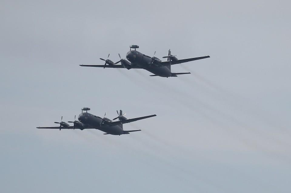 Два противолодочных самолёта морской авиации Ил-38Н Тихоокеанского флота пролетели более 8 тысяч километров для участия в главном параде ко Дню ВМФ