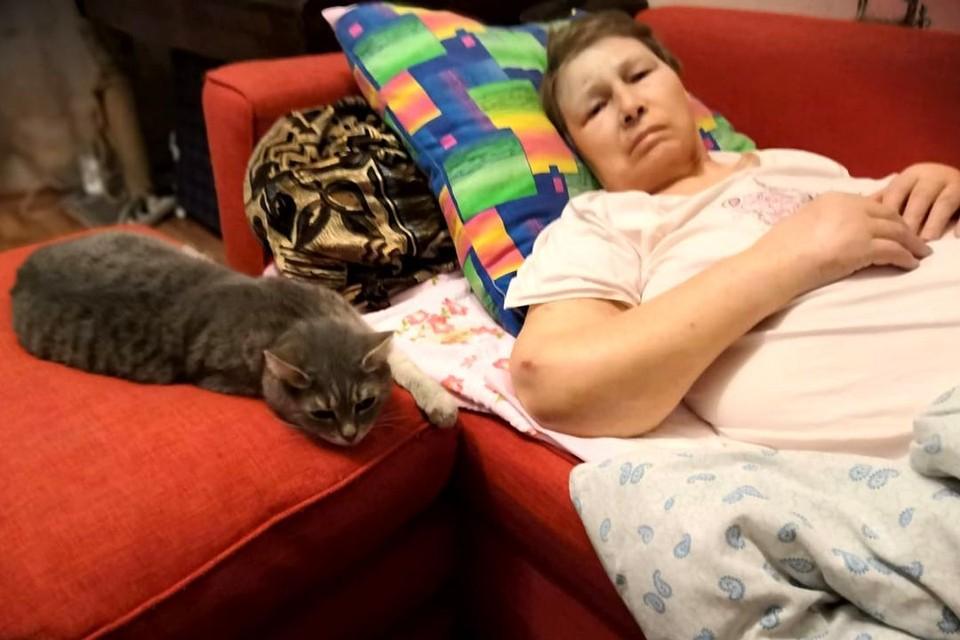 Пожилая женщина не могла себя никак защитить из-за болезни Альцгеймера. Фото: личный архив.