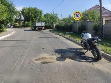 В Яловенах мотоциклист погиб, врезавшись в грузовик