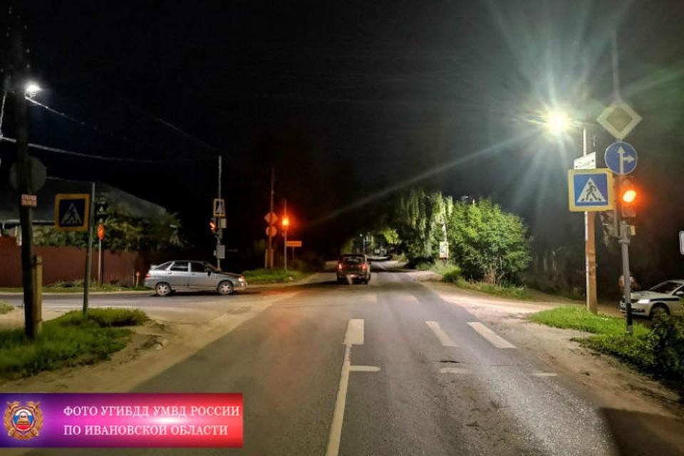 21-летний пьяный водитель ВАЗа спровоцировал ДТП на улице Рыбинской. ФОТО: УГИБДД УМВД по Ивановской области