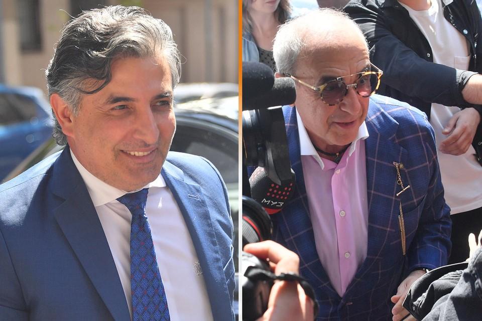 Адвокаты Эльман Пашаев (слева) и Александр Добровинский (справа) перед началом судебного заседания.