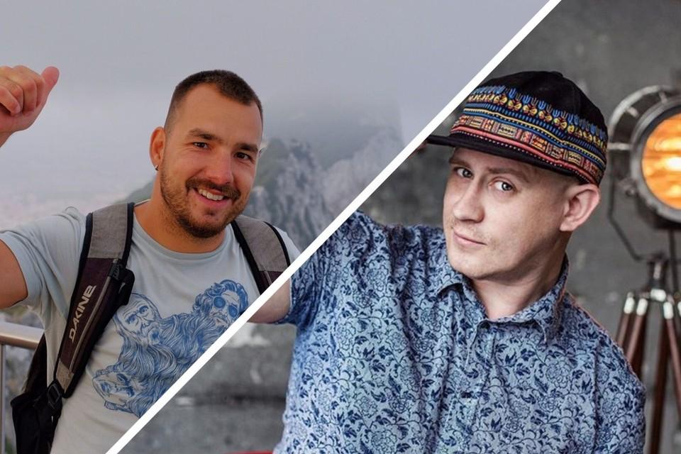 Анатолия Гомзякова (слева) обвиняют в убийстве своего подписчика Алексея Хребтова. Фото: соцсети.