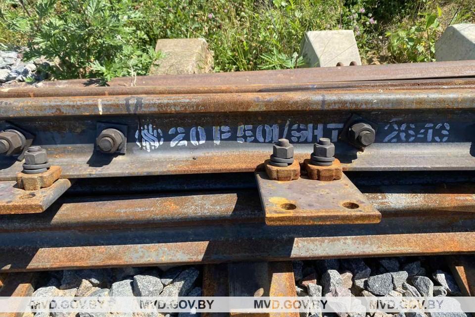 Партия узлов и агрегатов были приобретены госзакупкой для того, чтобы обновить железнодорожное полотно на определённом объекте. Фото: mvd.gov.by