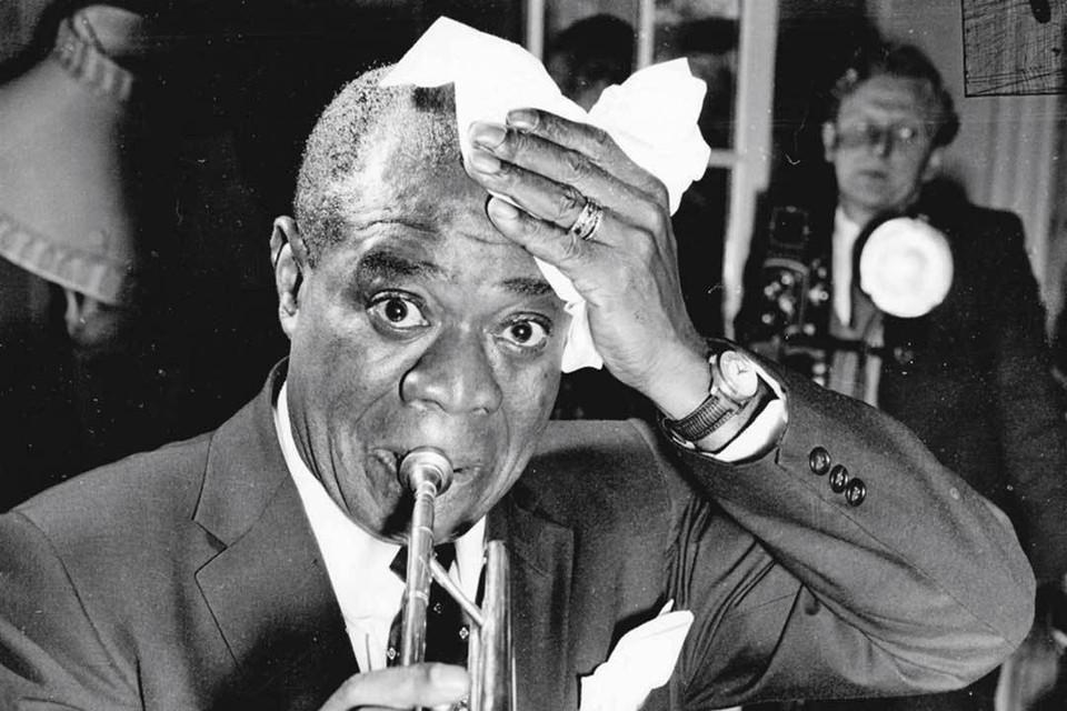 Луи Армстронг - легенда джаза.