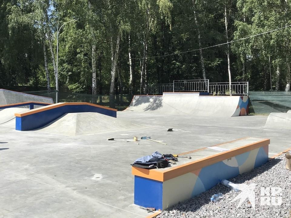 После открытия 1 августа скейт-парк спешно закрыли.
