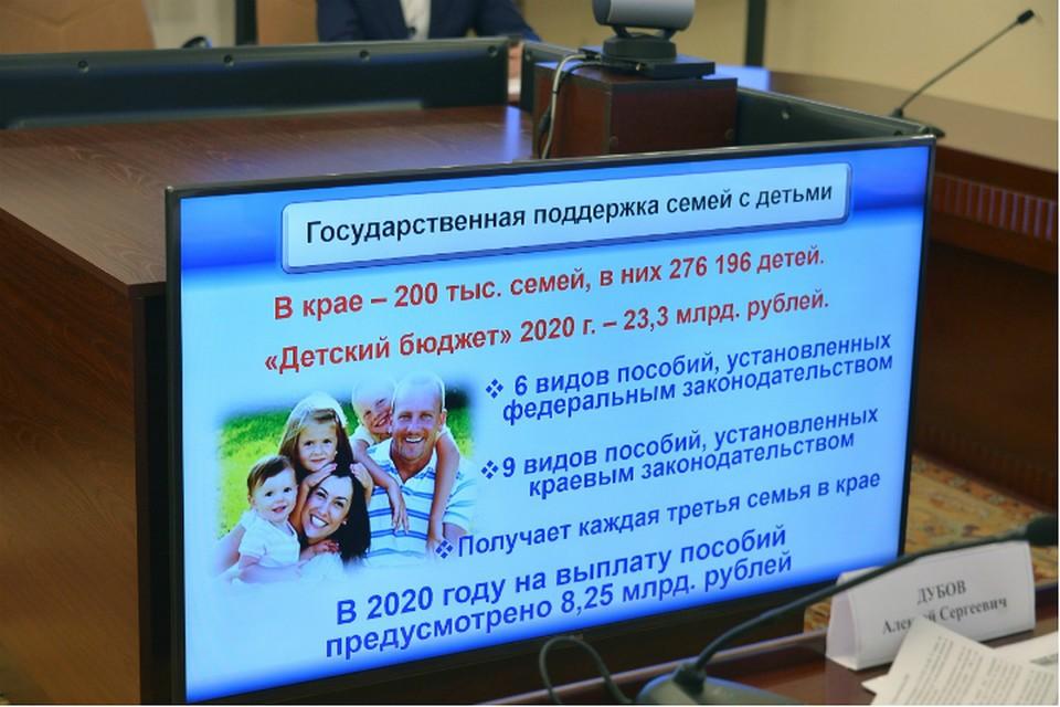 В Хабаровском крае обсудили меры поддержки семей с детьми
