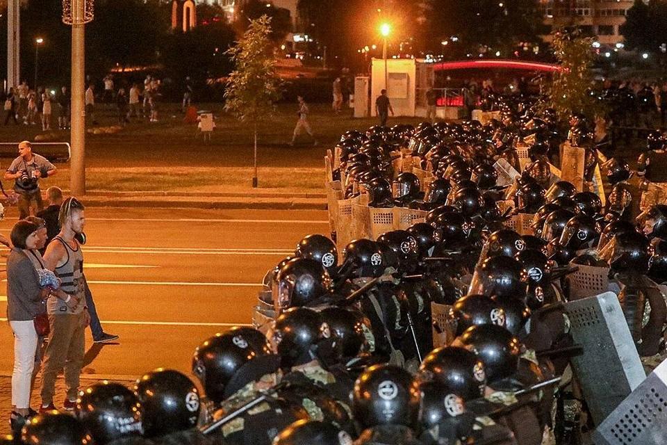 "Протестующих ""встретили"" силовики"