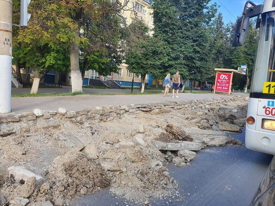 Туляки пожаловались на ремонт на улице Первомайская