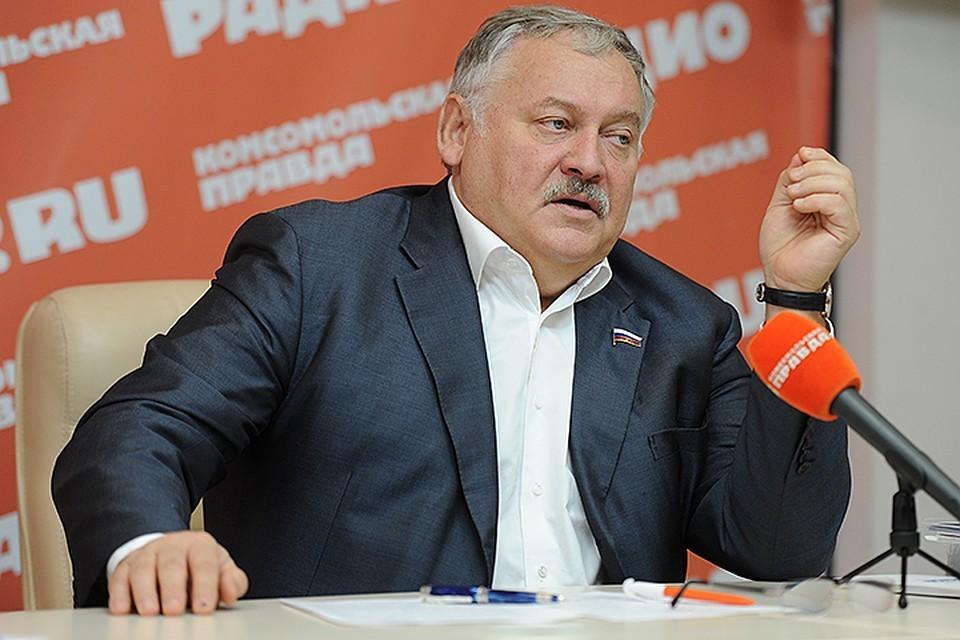 Первый зампредседателя комитета по делам СНГ Госдумы Константин Затулин.