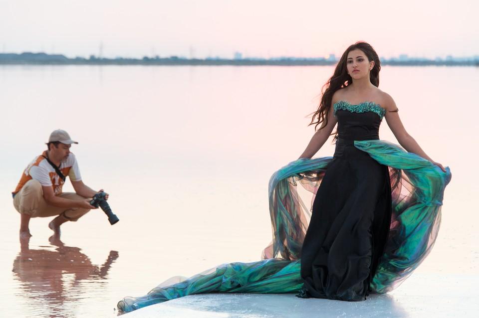 Озеро Сасык-Сиваш впервые стало модельным подиумом