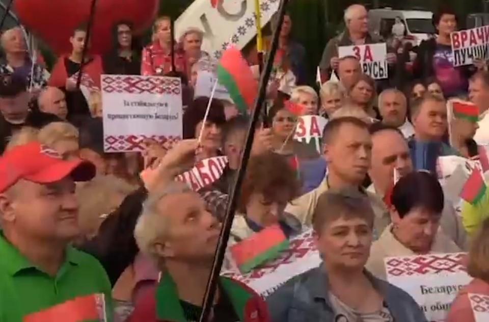 В Минске проходят акции сторонников и противников Лукашенко