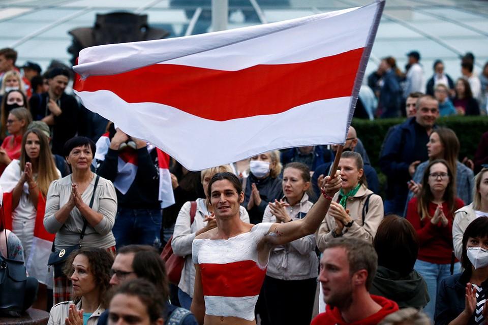Протестующие в Белоруссии по прежнему «ждут» российскую армию