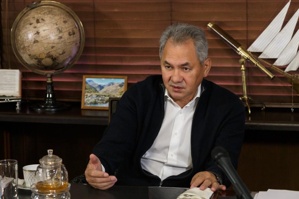 Президент Русского географического общества Сергей Шойгу. Фото: Пресс-служба РГО