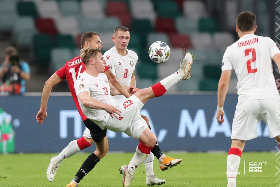 Сборная Беларуси в новом сезоне Лиги наций стартовала матчем с Албанией. Фото: abff.by