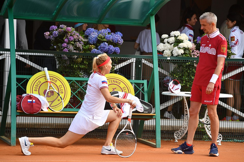 Константин Богомолов сражался в команде с теннисисткой Еленой Весниной и с ней же одержал победу в турнире