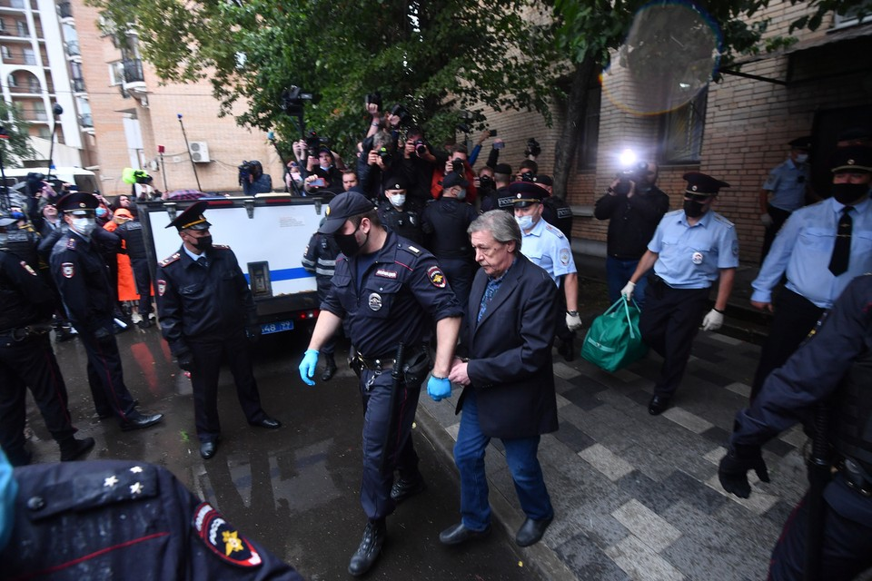 Михаил Ефремов после оглашения приговора.