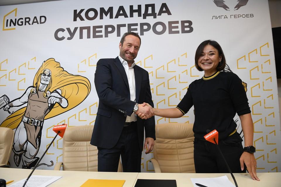 Руководитель проекта «Лига Героев» Ксения Шойгу и президент ГК «Инград» Павел Поселёнов подписали соглашение о стратегическом сотрудничестве.