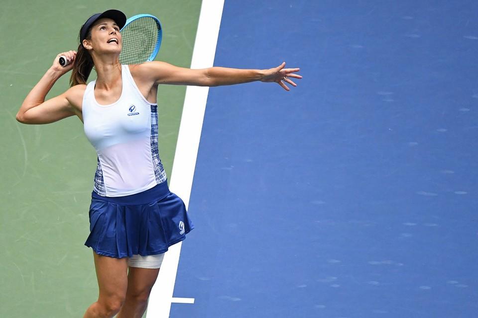 Цветана Пиронкова на кортах US Open.