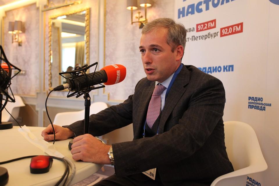 """Федор Щербаков дал первое интервью в качестве гендиректора """"Ленфильма"""" Радио Комсомольская правда."""
