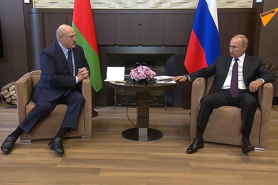 Лукашенко встречался с Путиным в Сочи 14 сентября. Фото: Sputnik.