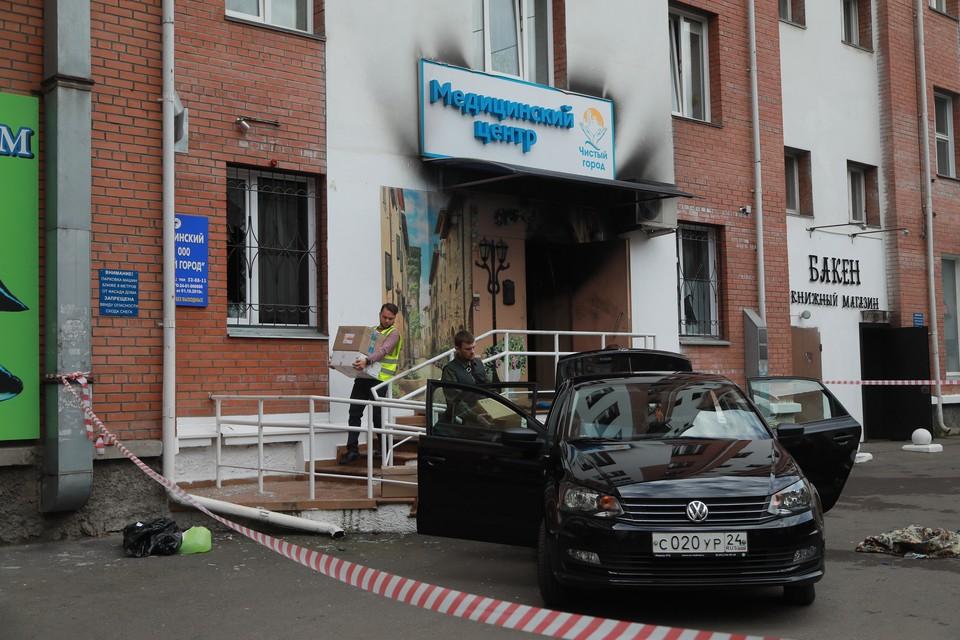 Подозреваемого в поджоге красноярской клиники отправили под арест.
