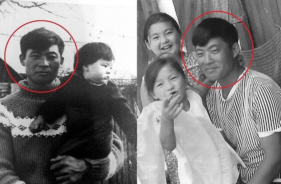 Алена с отцом (на фото слева) и Александра с папой. Фото: личный архив.