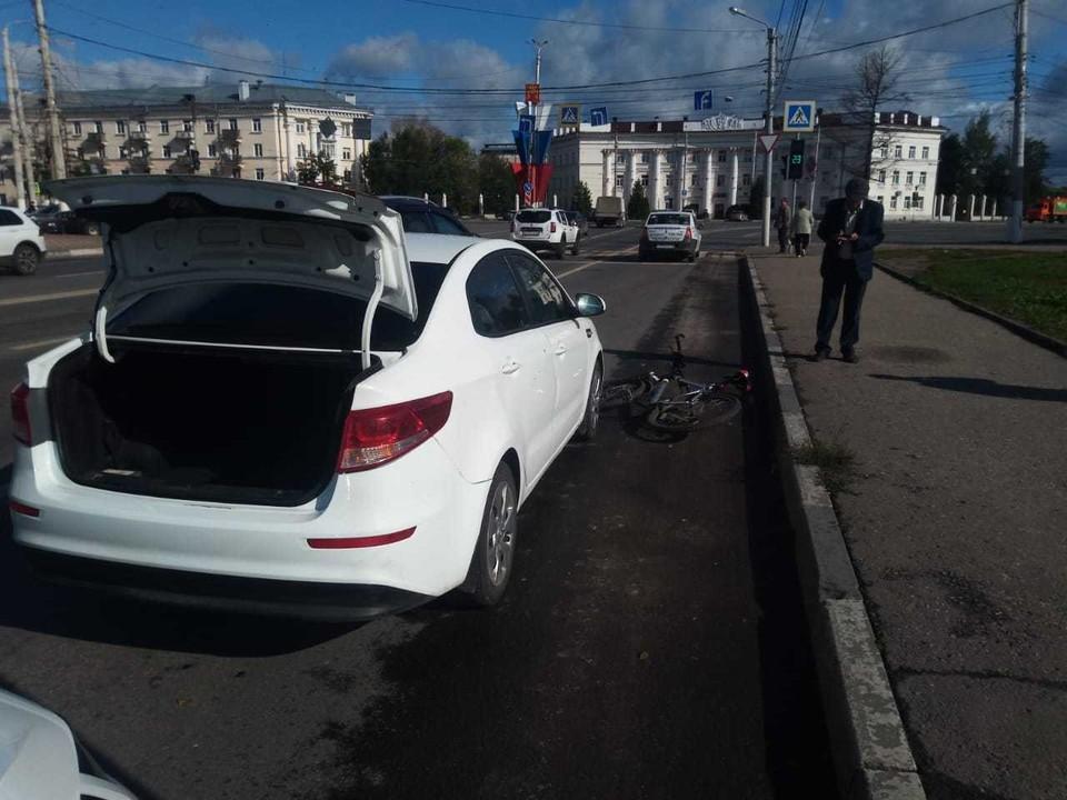 Авария произошла на площади Гагарина. Фото:УГИБДД по Тверской области