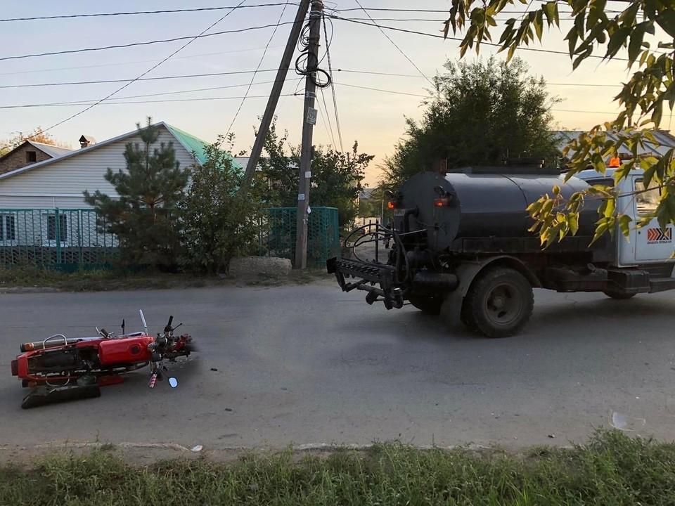 ДТП произошло в частном секторе на ул.Ново-Урицкой