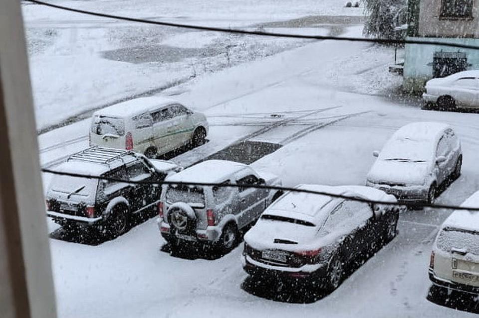 В поселке Восток в Приморье выпал первый снег. Фото: предоставлено читателями КП