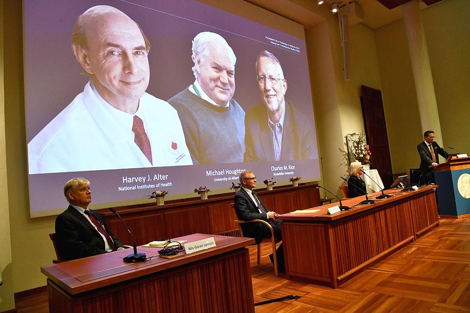 Первыми лауреатами Нобелевской премии в 2020 году стали учёные в области физиологии и медицины