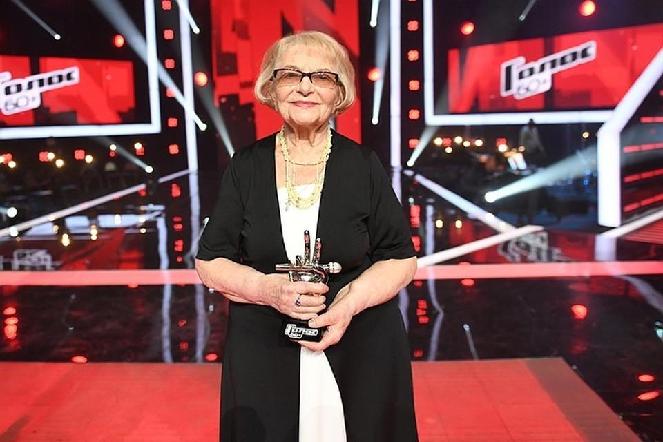 91-летняя блокадница Дина Юдина стала победительницей шоу «Голос. 60+». Фото Максима Ли