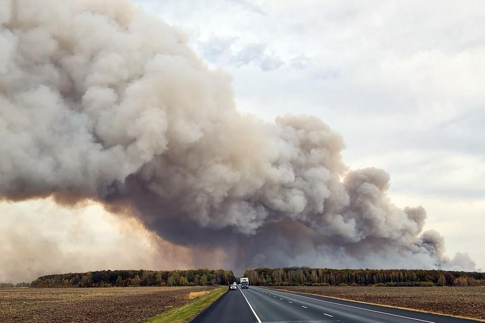 Bзрывы и пожар на военном складе в Рязанской области начался 7 октября